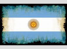 Bandera Argentina con los bordes quemados Dominio