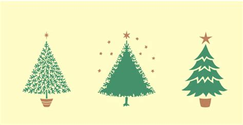 christmas card stencils set of three christmas tree stencils ideal for making