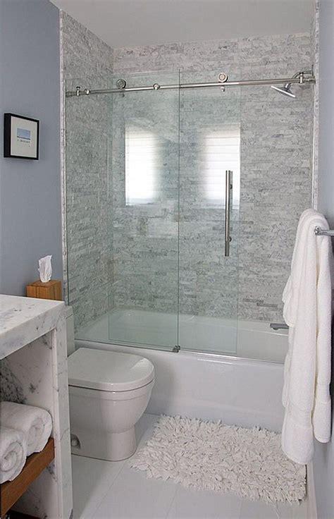 teensy shower stall powder room   small