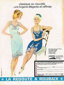 details sur publicite advertising 045 1965 la redoute a With fond de robe antistatique