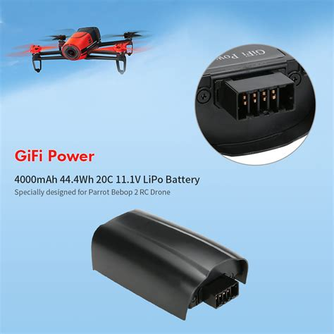 gifi power mah wh   lipo battery  parrot bebop  rc drone  sale