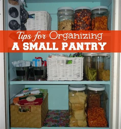 Solutions For Organizing A Small Pantry
