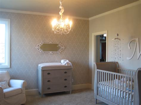 Gray And Cream Baby Girl's Nursery