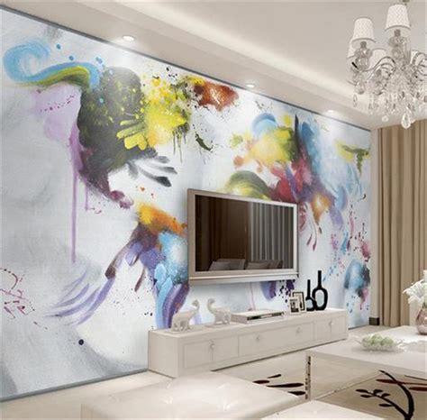 custom photo  wallpaper  woven mural watercolor