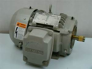 Siemens 1 HP 1755 RPM Electric Motor SD100 Joseph Fazzio