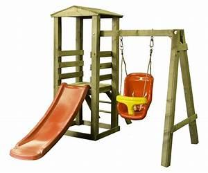 Spielturm Schaukel Rutsche : spielturm mit holzschaukel u rutsche von woodinis spielplatz ~ Frokenaadalensverden.com Haus und Dekorationen