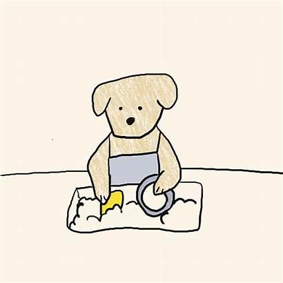 Dishes Washing Beginner Dog Animation Redd Reddit