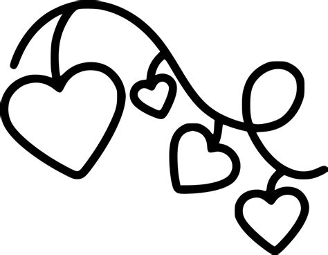 Available in png and svg formats. Hearts On String Svg Png Icon Free Download (#573043 ...