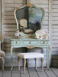 Coiffeuse Salle De Bain : coiffeuse ancienne baroque avec miroir paperblog ~ Teatrodelosmanantiales.com Idées de Décoration