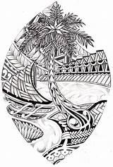 Tribal Coloring Caves Guam Seal Drawings Designlooter sketch template