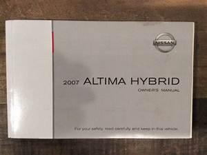 2007 Nissan Altima Hybrid Owner U0026 39 S Manual