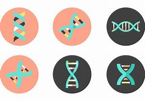 Dna Double Helix Vector Icons
