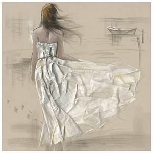 tableau fibre naturelle 100x100 peinture femme robe en With affiche chambre bébé avec robe vintage fleur