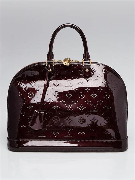 louis vuitton amarante monogram vernis alma gm bag yoogis closet