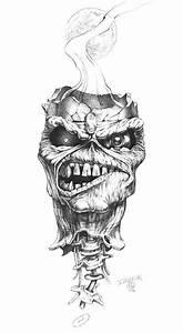 "Derek Riggs drawing ""Floating Ed Head""   IRON FUCKIN ..."