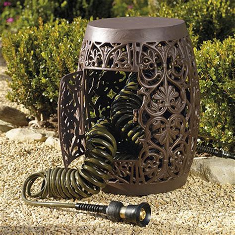 hose storage garden stool contemporary accent and