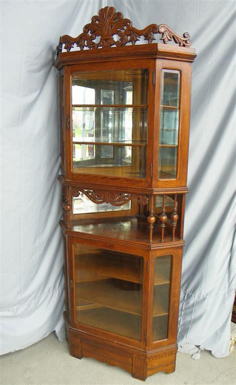bargain johns antiques antique oak corner china