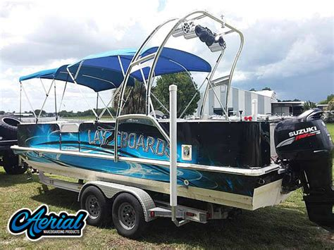 Hurricane Wakeboard Boats by Pontoon Boat Wakeboard Tower The F250 Pontoon Tower