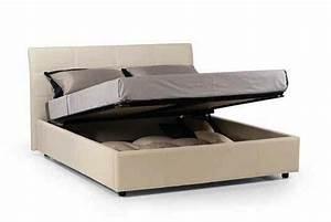 Tete De Lit 120 : lit coffre design cesare couchage 2 personnes 120 190cm en cuir tete de lit capitonnee ~ Teatrodelosmanantiales.com Idées de Décoration