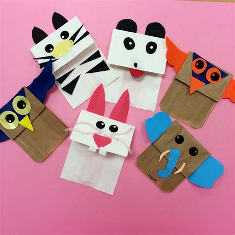 animal paper bag puppets  images paper bag puppets