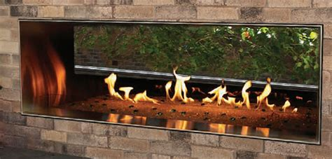 empire outdoor linear   fireplace fines gas