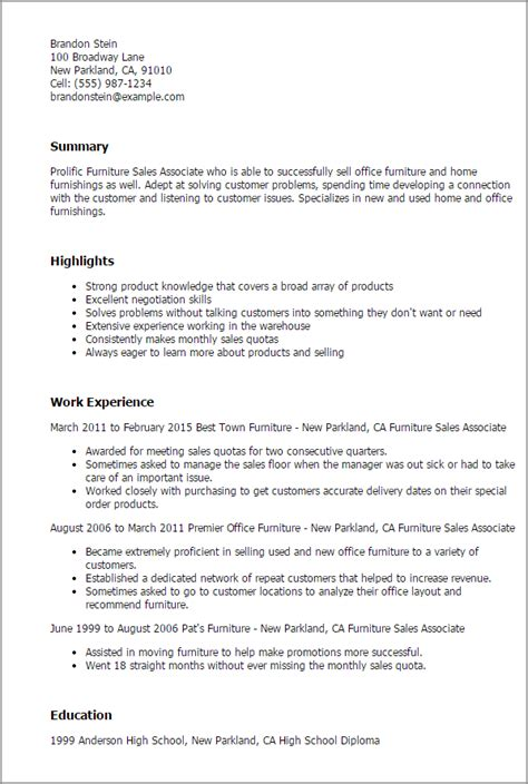 cover letter for furniture sales position resume bullet points for retail sales