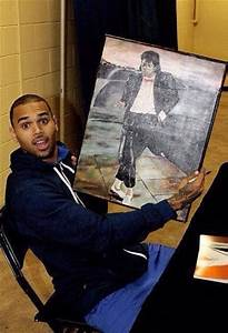 Chris Brown and Michael Jackson painting | Michael Jackson ...