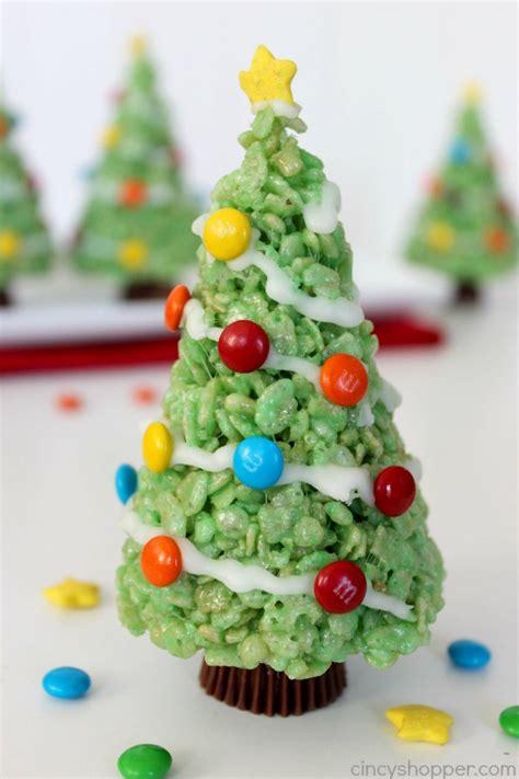 christmas tree rice krispie treats christmas decore