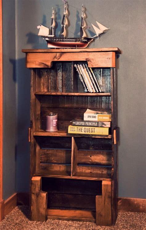 pallet bookshelf plans wooden pallet bookshelf diy pallet furniture plans