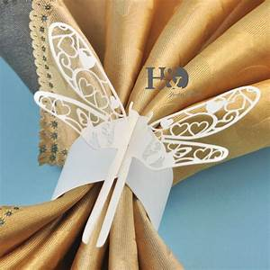 36pcs ivory dragonfly paper napkin rings christmas wedding With paper napkin rings for wedding