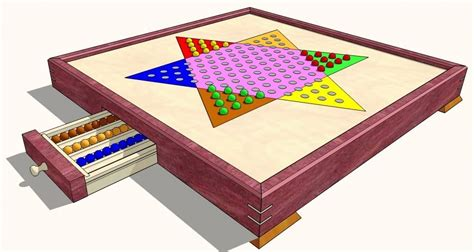 chinese checkers game board  woodworking plans