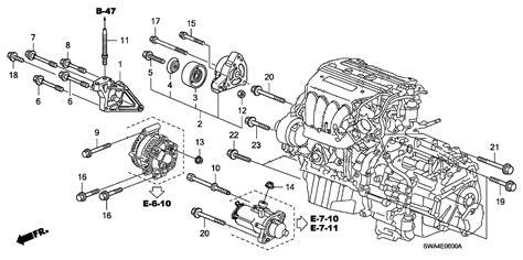 Honda Cr V Engine Diagram by 11910 Rza 000 Genuine Honda Bracket Engine Side Mounting
