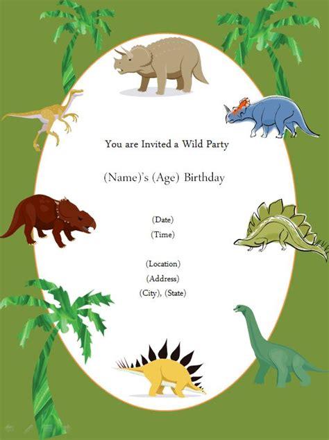 printable invite dinosaur birthday party