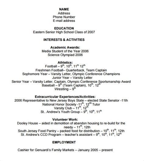 sample college resumes sample templates