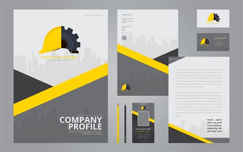 company stationery template pages construction logos in stationery set media construction