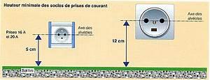 les differents circuits de l39installation electrique electys With hauteur des prises dans une cuisine