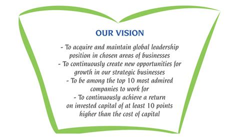 vision values promise