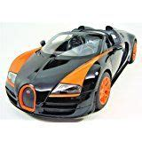 The bugatti veyron 16.4 grand sport is the world's fastest and most exciting roadster, and will be displayed to the public for the first time on the afternoon of august 16, 2008, outside the lodge at pebble beach. Radio Remote Control 1/14 Bugatti Veyron 16.4 Grand Sport Vitesse Licensed RC Model Car (Black ...