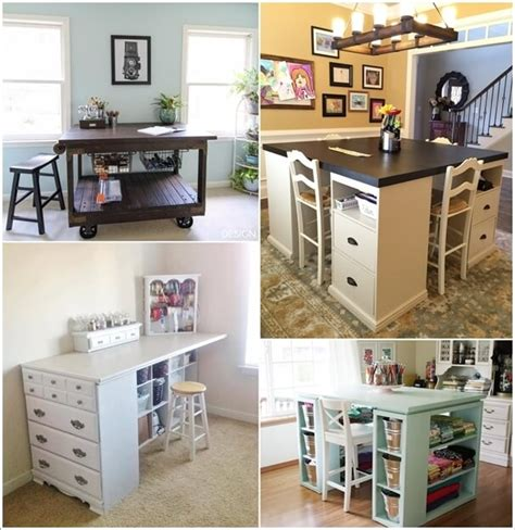 pottery barn desk 10 cool diy craft table ideas for your craft room