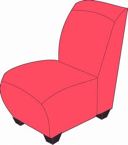 Chair Clipart Clip Sofa Armless Armchair Vector