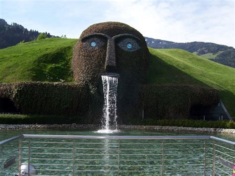 swarovski crystal head fountain  austria