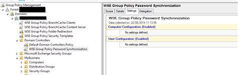 """3) by default, accounts with a blank password you can use gpedit.msc to see if any policies conflict. issue with GPO """"WSE Group Policy Password Synchronization"""""""