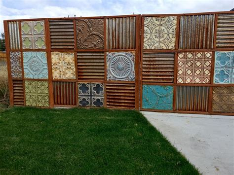corrugated metal fence design corrugated metal fence update noelle o designs noelleodesigns