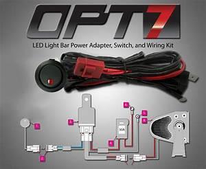 Opt7 U00ae Off Road Led Light Bar On