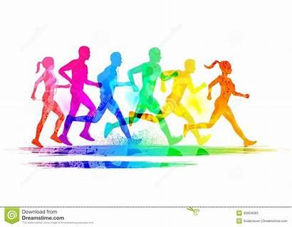 Runners Vector Illustration Running Keep Legs