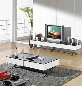 Table Tv But : modern glossy white tv stand cr059 tv stands ~ Teatrodelosmanantiales.com Idées de Décoration