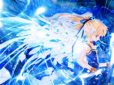 blue angel anime angels wallpaper  fanpop