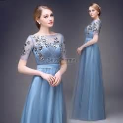 robe de soirã e grande taille pour mariage robe de soirée grande taille pour mariage longue pas cher en tulle bleu ciel à broderie avec manche