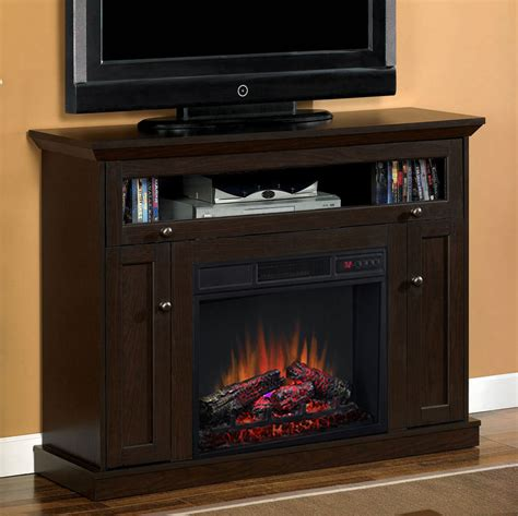 tv cabinet with fireplace 23 quot oak espresso media console electric fireplace