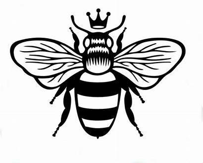 Bee Queen Tattoo Vinyl Sticker Drawing Bees